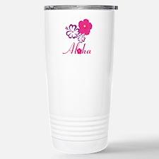 Pink Hibiscus Aloha Travel Mug