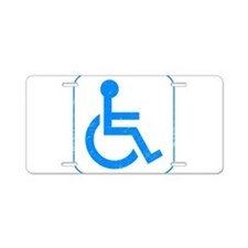Disabled Aluminum License Plate