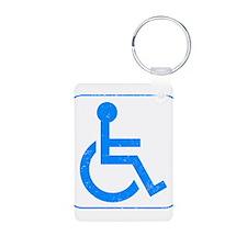 Disabled Aluminum Photo Keychain