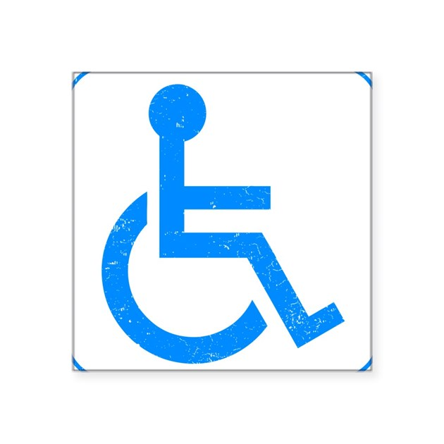 Disabled square sticker 3quot x 3quot by awesomegiftideas for Kitchen colors with white cabinets with handicap sticker for car