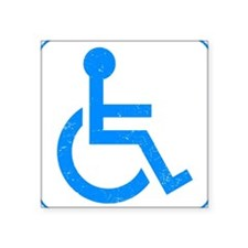 "Disabled Square Sticker 3"" x 3"""