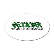 Geocacher...The World is My Playground 20x12 Oval