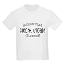 INTRAMURAL SKATING CHAMPION  Kids T-Shirt