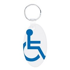 Handicapped Aluminum Oval Keychain