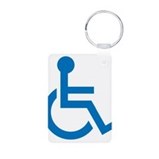 Handicapped Aluminum Photo Keychain