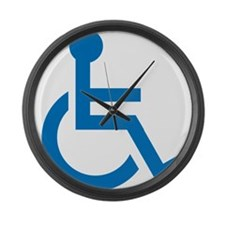 Handicapped Large Wall Clock