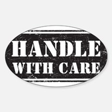 Handle With Care Sticker (Oval)