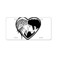 Couple Heart Aluminum License Plate
