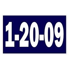 1-20-09 anti-Bush bumper sticker