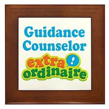 Guidance Counselor Extraordinaire Framed Tile