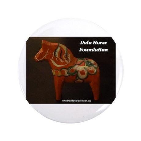 "Dala Horse Foundation 3.5"" Button"