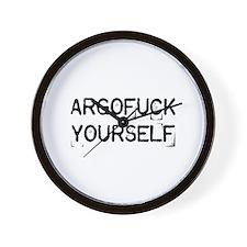 Argofuck Yourself Wall Clock