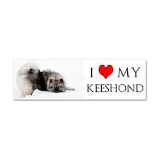 I love my Keeshond Car Magnet 10 x 3
