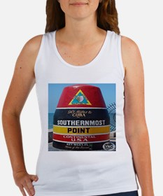 Key West Southern Most Point Monument Women's Tank