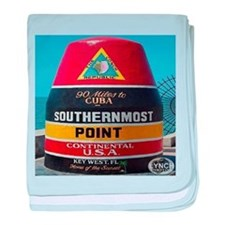 Key West Southern Most Point Monument baby blanket