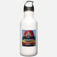 Key West Southern Most Point Monument Water Bottle