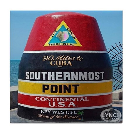 Key West Southern Most Point Monument Tile Coaster