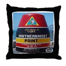 Key West Southern Most Point Monument Throw Pillow