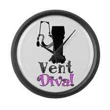 Vent Diva.PNG Large Wall Clock