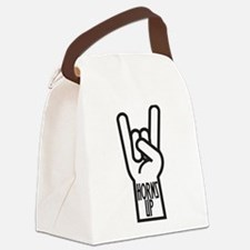 Horns Up Canvas Lunch Bag