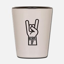 Horns Up Shot Glass