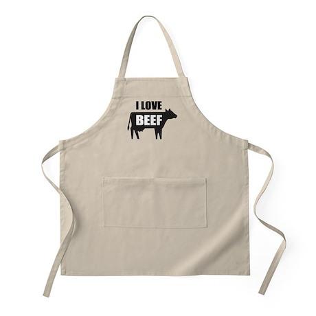I Love Beef Apron