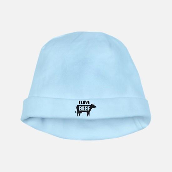 I Love Beef baby hat