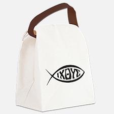 Jesus Fish IXOYE Canvas Lunch Bag