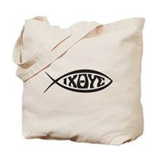 Jesus Fish IXOYE Tote Bag