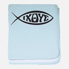 Jesus Fish IXOYE baby blanket