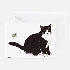 Tux Cat Greeting Card