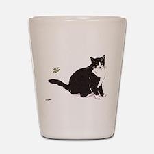 Tux Cat Shot Glass