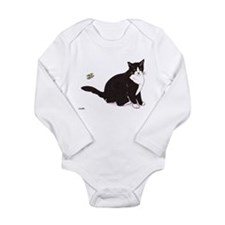 Tux Cat Long Sleeve Infant Bodysuit