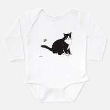 Tux Cat Long Sleeve Infant Bodysuit