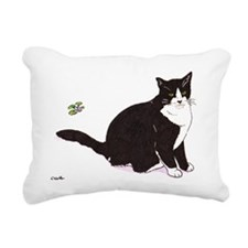 Tux Cat Rectangular Canvas Pillow