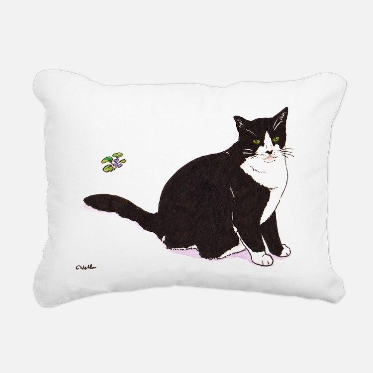 Tux Cat Rectangular Canvas Pillow