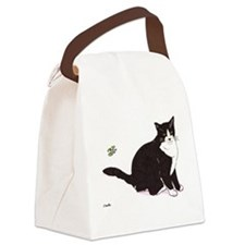 Tux Cat Canvas Lunch Bag