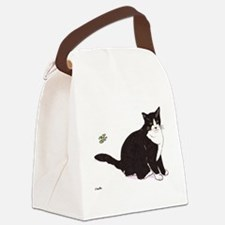 Tux Cat Canvas Lunch Bag