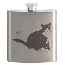 Tux Cat Flask