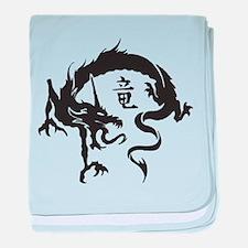 Japanese Dragon baby blanket