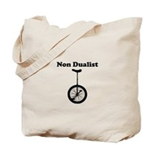 Non Dualist Unicyclist Tote Bag