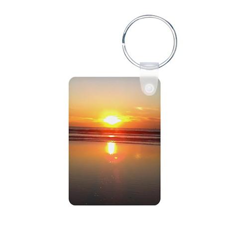 Marina del Rey Sunset Aluminum Photo Keychain