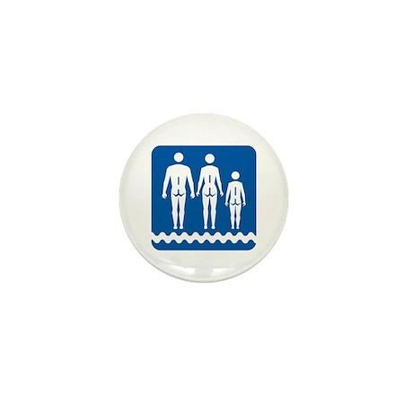 Nudist camp, Quebec - Canada Mini Button (100 pack