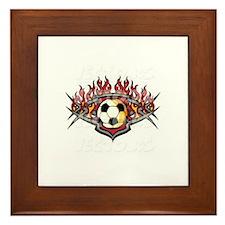 vector soccer ball Framed Tile