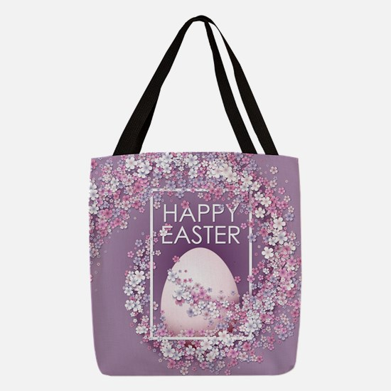 Happy Easter Polyester Tote Bag