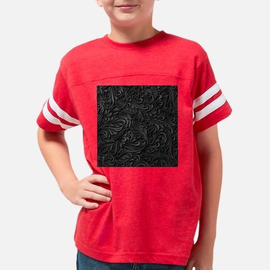 Black Flourish Youth Football Shirt