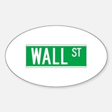 Wall St., New York - USA Oval Decal