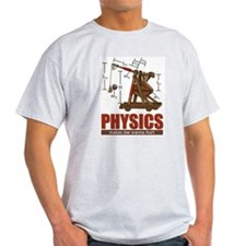 Physics Trebuchet Catapult Ash Grey T-Shirt