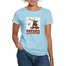 Physics Trebuchet Catapult Women's Pink T-Shirt