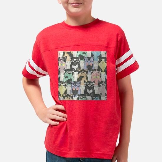 Hipster Cats Youth Football Shirt